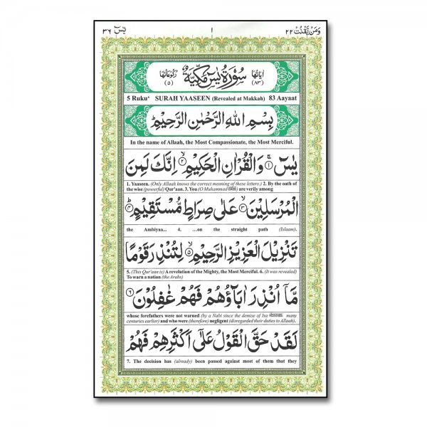 Surah yasin translation in english qur an mlb97 the holy qur an