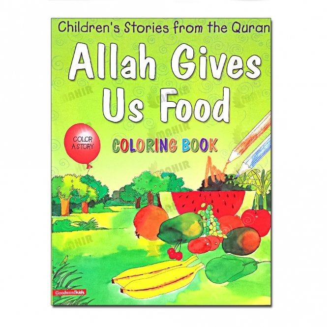 Kids Story Book Allah Gives Us Food (Colouring Book)[MLB 8124]1.50