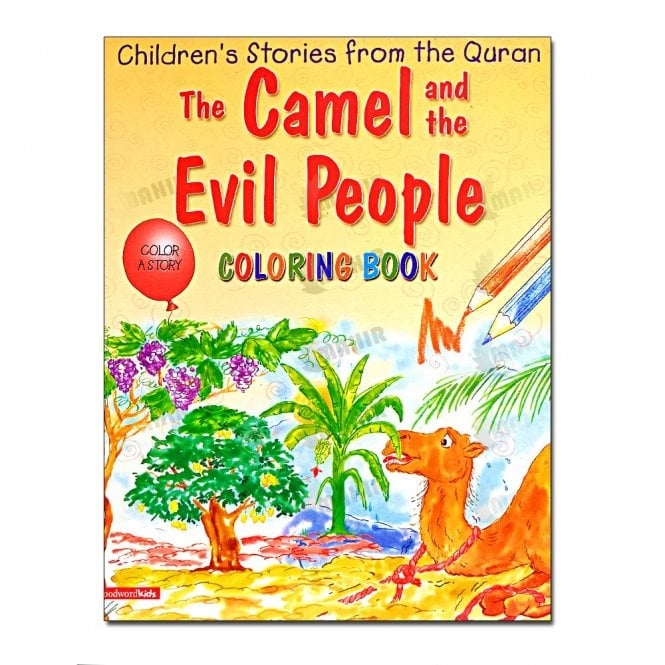 Kids Story Book Camel and the Evil People (Colouring Book)[MLB 8125]