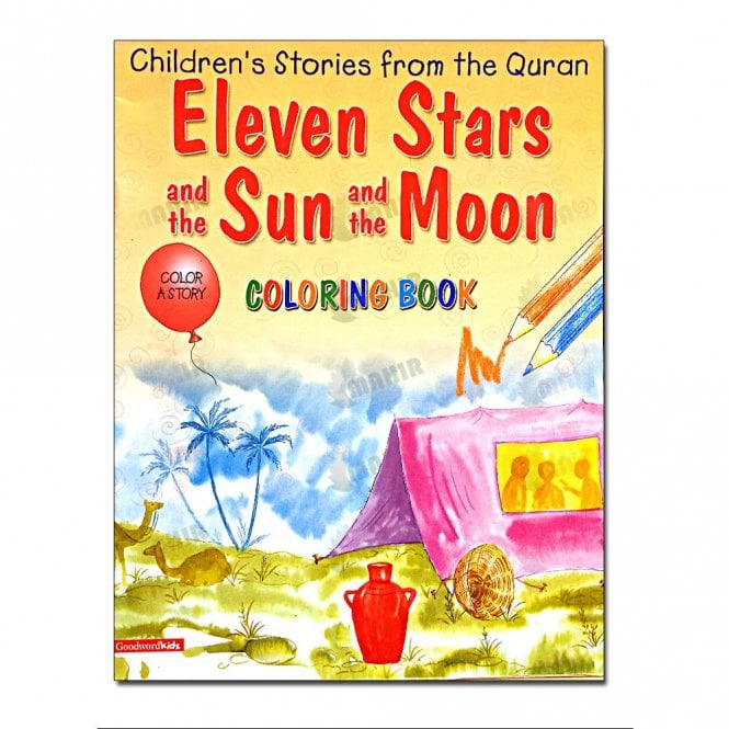Kids Story Book Eleven Stars and the Sun and the Moon (Colouring Book)[MLB 8127]