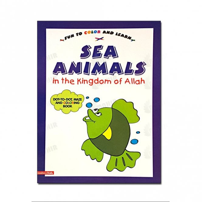 Kids Story Book Sea Animals in the Kingdom of Allah (Colouring Book)[MLB 8160]