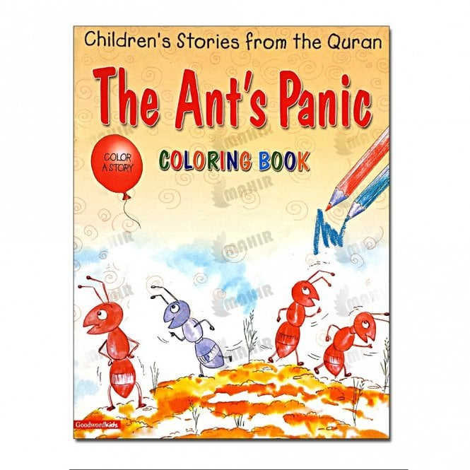 Kids Story Book The Ant's Panic (Colouring Book)[MLB 8128]