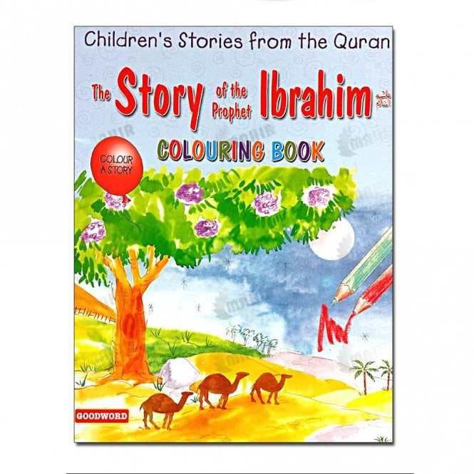 Kids Story Book The Story of the Prophet Ibrahim (Colouring Book)[MLB 8135]