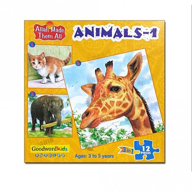 Kids Story Book Animals-1 (Box of three puzzles)[MLB 8179]