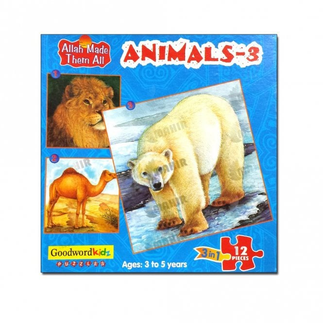 Kids Story Book Animals-3 (Box of three puzzles)[MLB 8181]