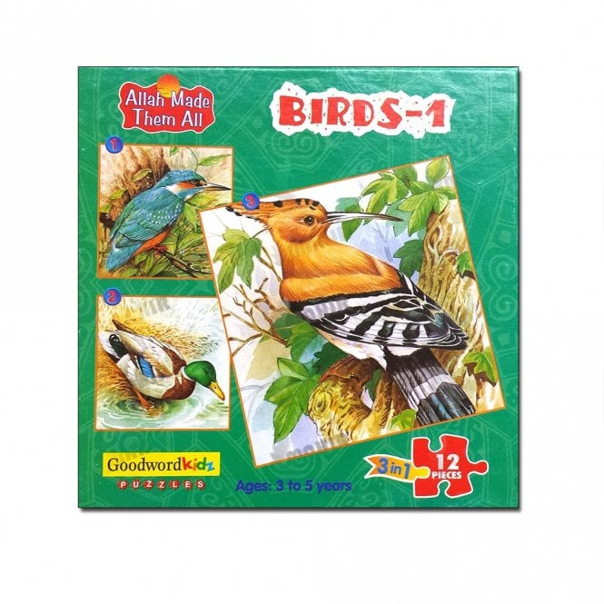 Kids Story Book Birds-1 (Box of three puzzles)[MLB 8176]