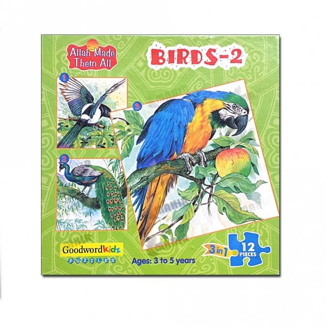 Kids Story Book Birds-2 (Box of three puzzles)[MLB 8177]