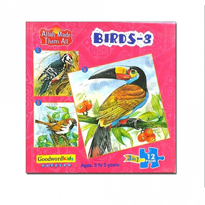 Kids Story Book Birds-3 (Box of three puzzles)[MLB 8178]
