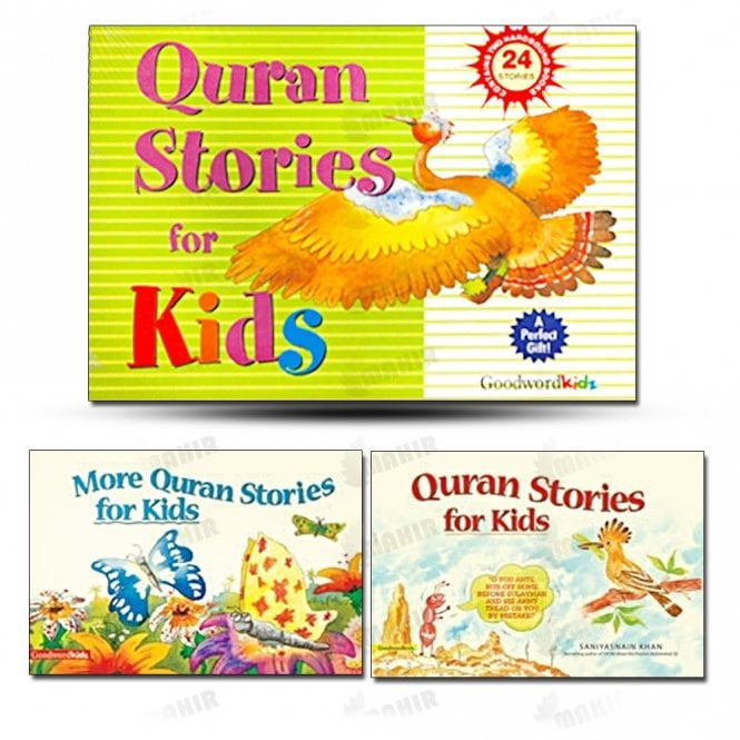 Kids Story Book My Quran Stories for Kids Gift Box (Two Hard Bound Books)[MLB 8105]