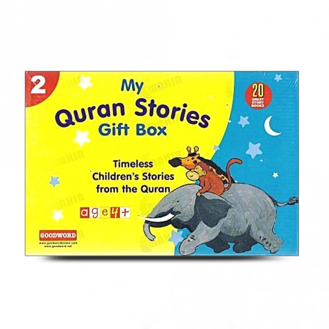 Kids Story Book My Quran Stories Gift Box-2 (20 Quran Stories for Little Hearts Paperback Books)[MLB 8110]
