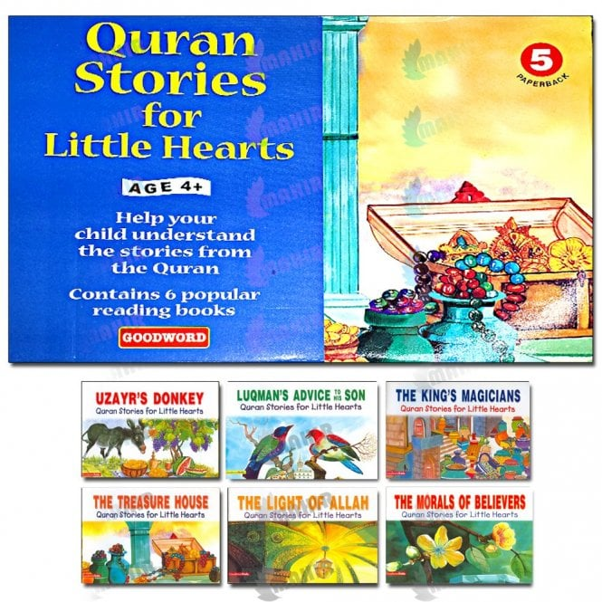 Kids Story Book My Quran Stories for Little Hearts Gift Box-5 (Six Paperback Books)[MLB 893]