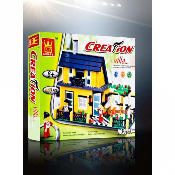 Kids Fun:: K27 Creation Villa Building Block Toys