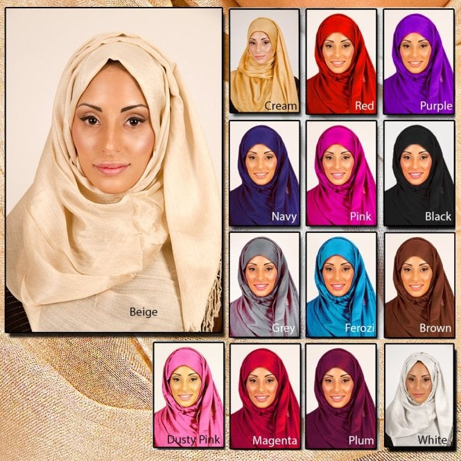 Jilbab/Abaya Scarf ML 6141  [size: 5ft 8in x 2ft 4in aprox.]