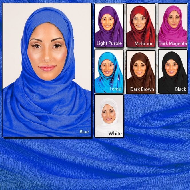 Jilbab/Hijab Scarf ML 6142  [size: 6ft 7in x 3ft 10in aprox.]