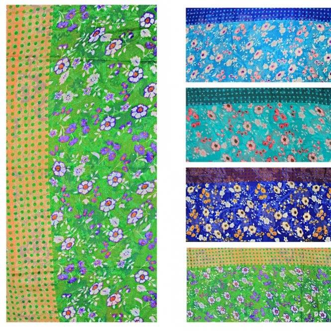 Jilbab/Hijab Scarf ML 6151 Large Size 4 Colour Chiffon Scarf [ 6 feet x 3.15feet ]
