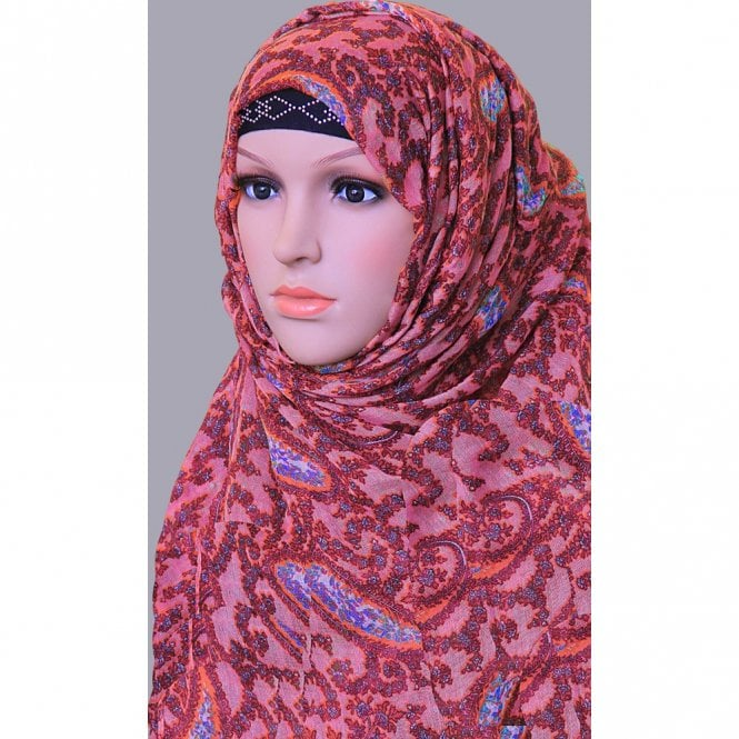 Jilbab/Hijab Scarf ML 6152 Large Size 4 Colour Viscose Scarf [ 6.3 feet x 3.15 feet ]