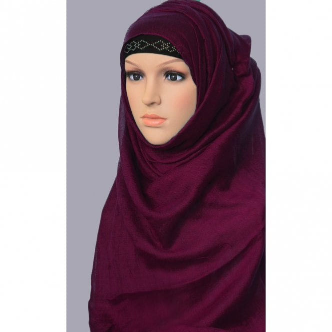 Jilbab/Abaya Scarf ML 6144 Large Size 10 Colour Viscose Scarf [ 6 feet x 3.5 feet ]