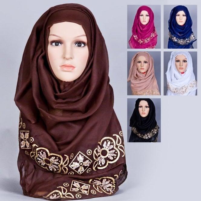 Jilbab/Hijab Scarf ML 6169