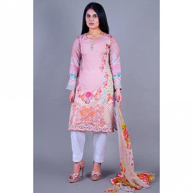 Salwar Suit ML 12129 Lawn Suit with Chiffon Dupatta