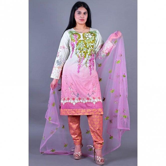 Salwar Suit ML 12144 Lawn Suit with Net Dupatta