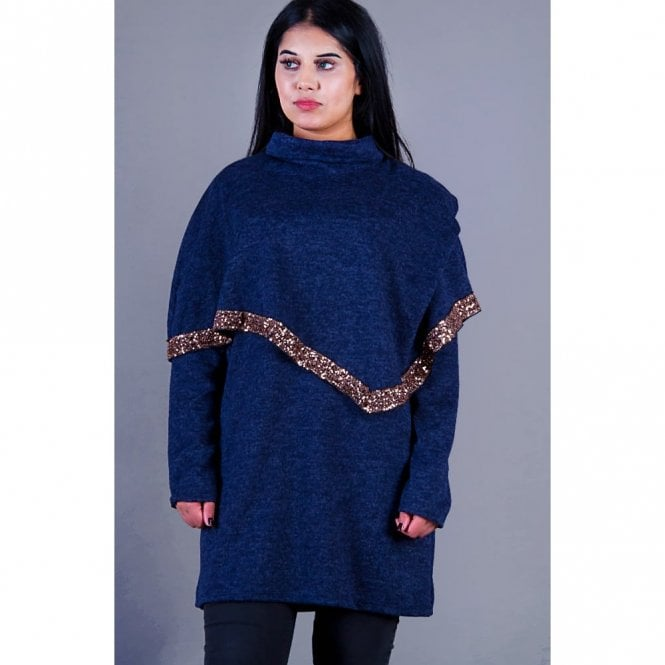 ML 31509 Collard Neck Wool Poncho