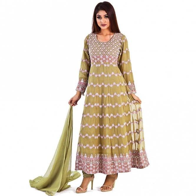 Churidar Long Dress Suit ML 12275