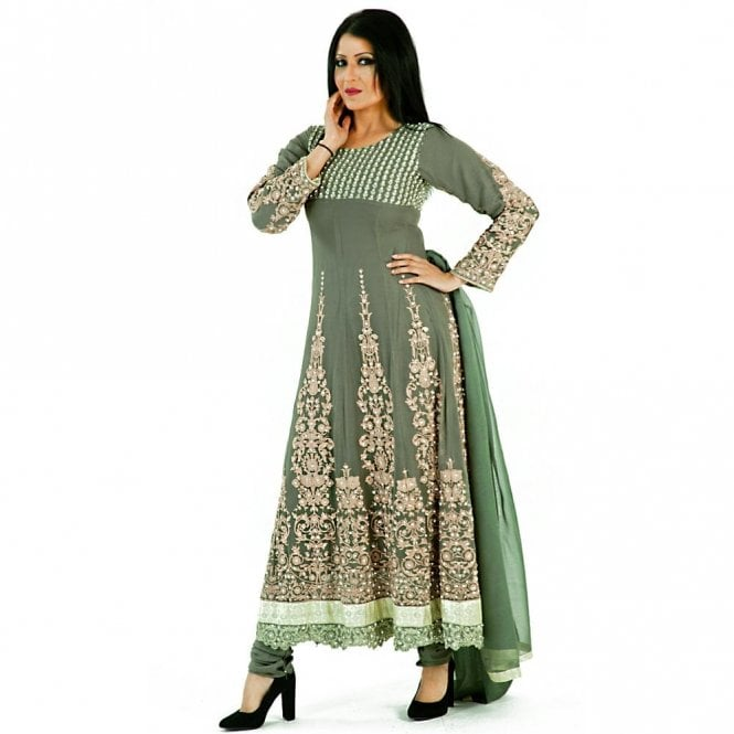 Churidar Long Dress Suit ML 12267