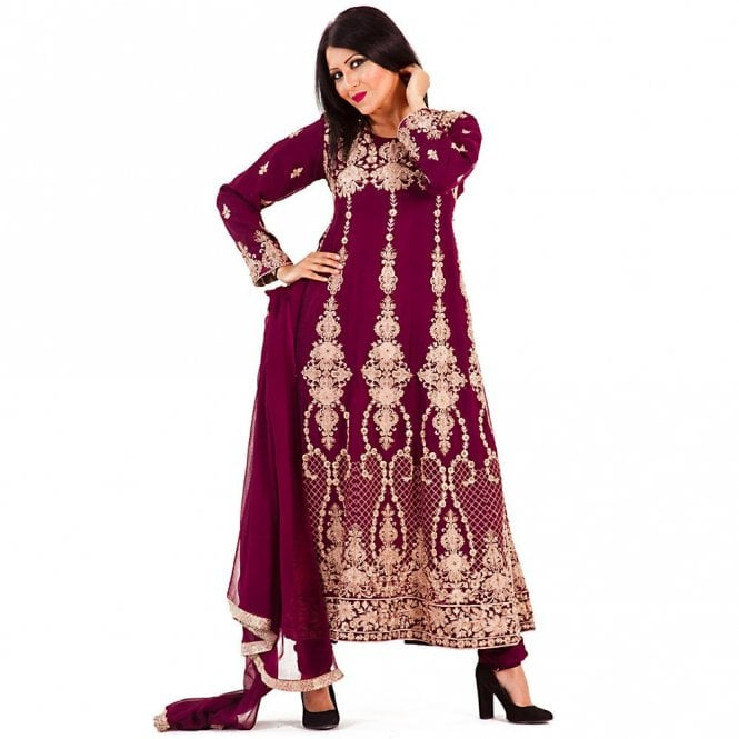 Churidar Long Dress Suit ML 12272