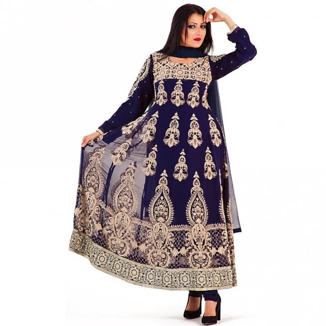 Churidar Long Dress Suit ML 12270