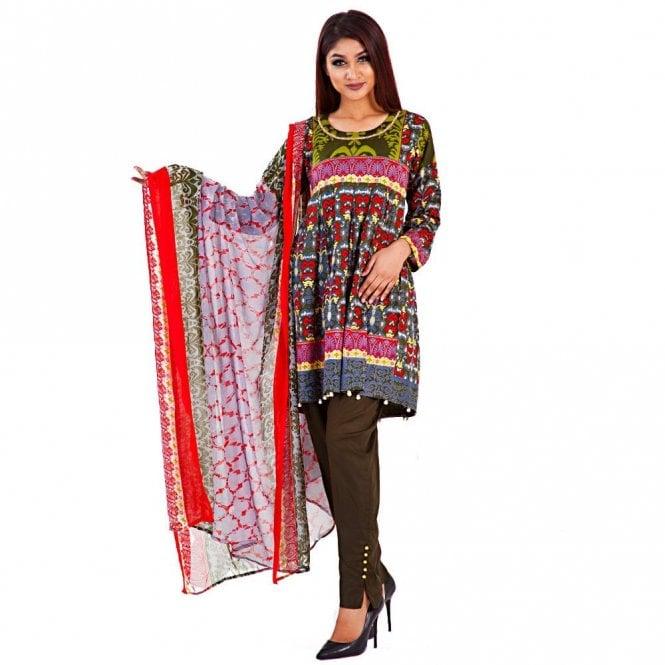 Digital Printed Cotton Suit ML 12246