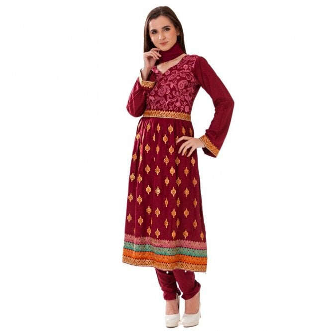 Churidar Long Dress Suit ML 12426