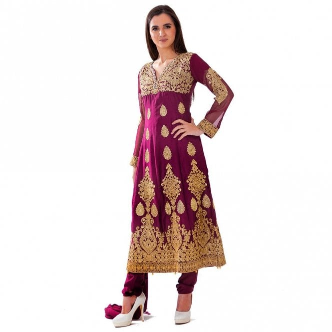 Churidar Long Dress Suit ML 12427