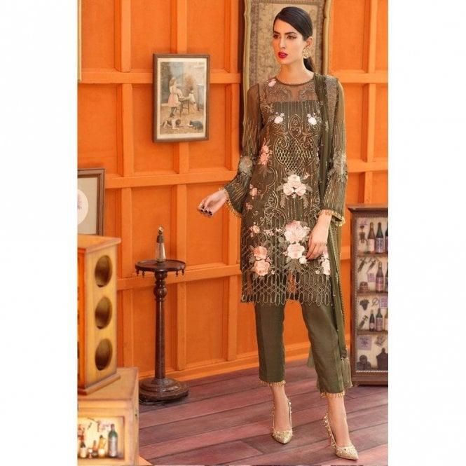Unstitched Fabric Suits: ML 12652 - LIQUOR