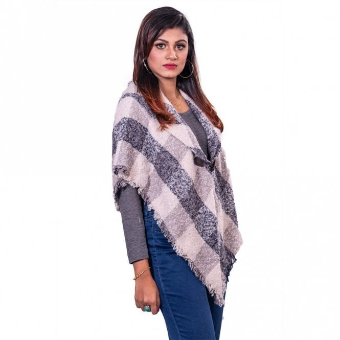 ML 31840 Women's Hooded Poncho Shawl