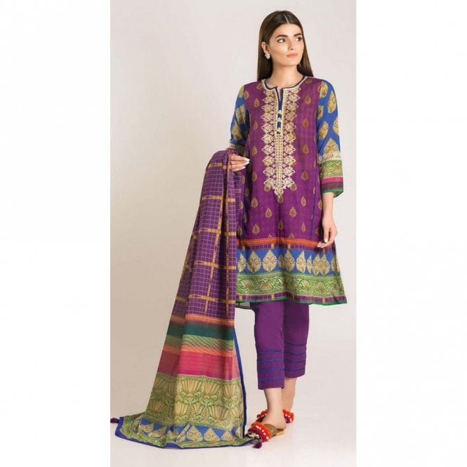 Unstitched Fabric Suits: ML 12772