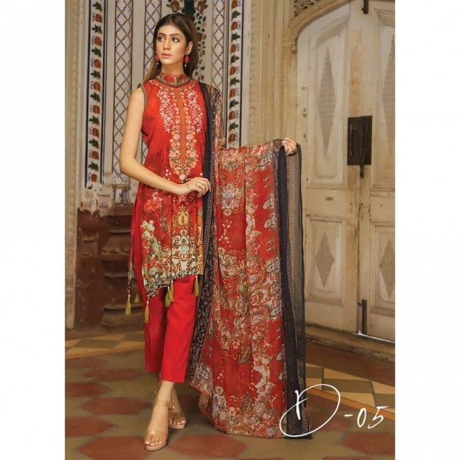 Unstitched Fabric Suits: ML 12926