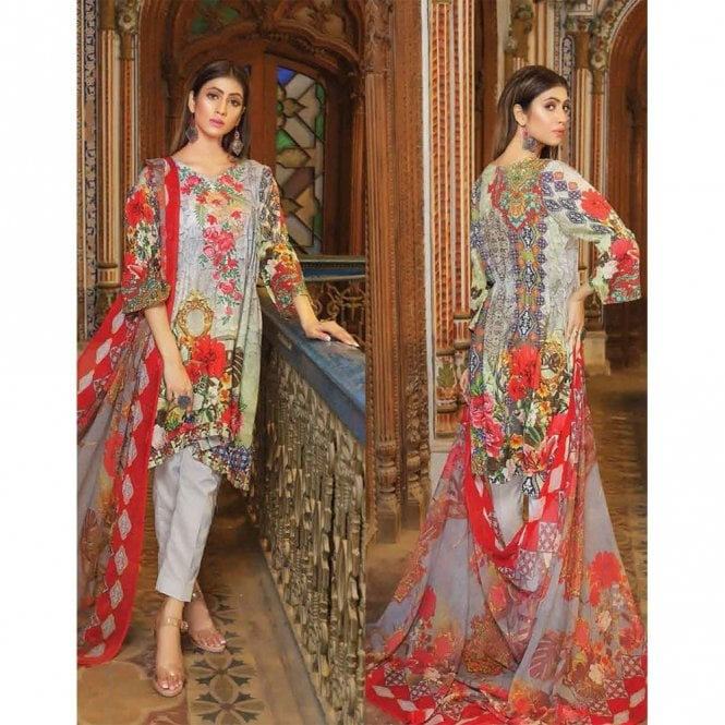 Unstitched Fabric Suits: ML 12931