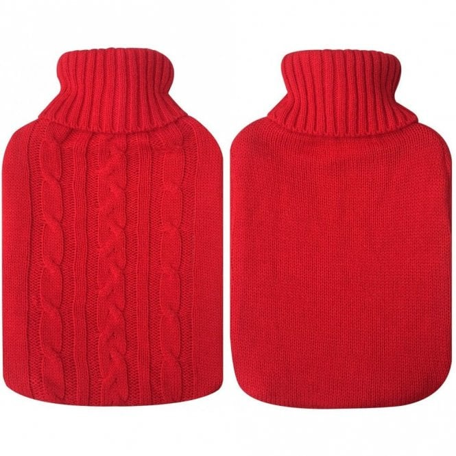 MLP 087: Premium Classic Rubber Hot Water Bottle with Knitted Soft Bag Cover