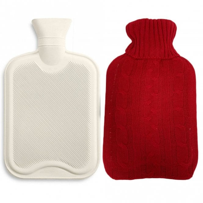 MLP 089: Premium Classic Rubber Hot Water Bottle with Knitted Soft Bag Cover