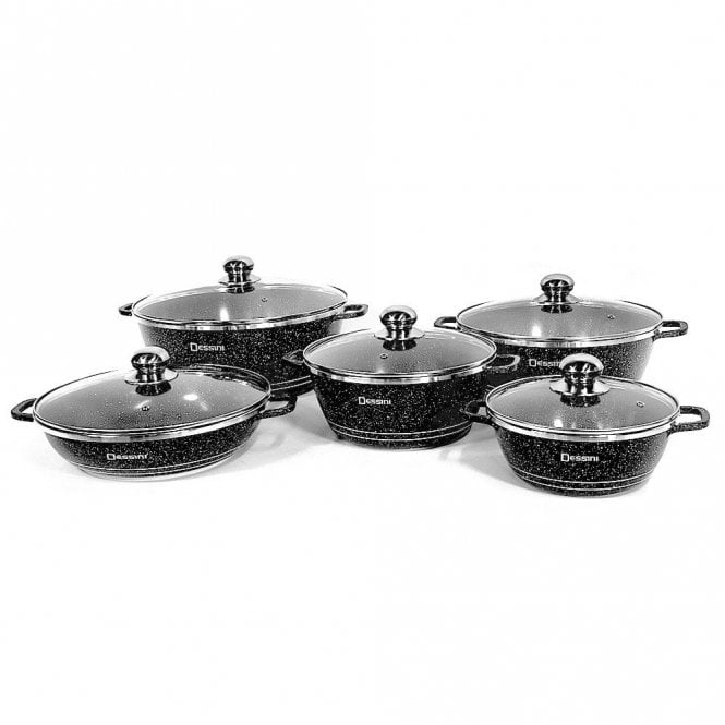 KC - 6256 : Dessini Original Nonstick Granite Coated Cookware Set