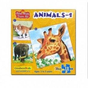 Animals-1 (Box of three puzzles)[MLB 8179]