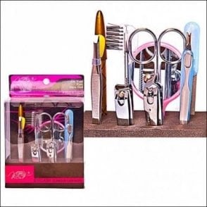 K-168 Girls 12 piece Manicure and Eyelash Set