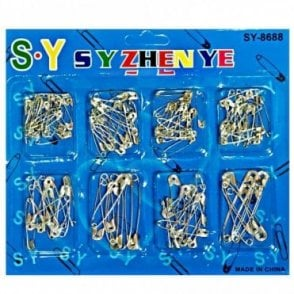 K 283 Eight Size Safety Pins