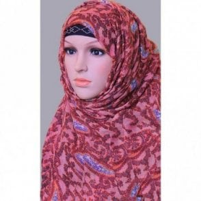ML 6152 Large Size 4 Colour Viscose Scarf [ 6.3 feet x 3.15 feet ]