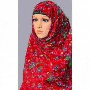 ML 6149 Large Size 4 Colour Viscose Scarf [ 6.15 feet x 3.15 feet ]