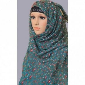 ML 6153 Large Size 4 Colour Viscose Scarf [ 6 feet x 3.2 feet ]