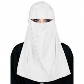 Islamic Ladies Veil-White