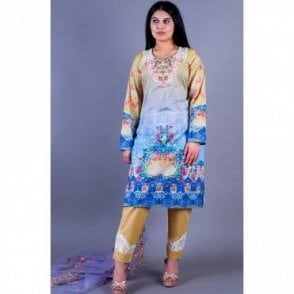 ML 12151 Lawn Suit with Net Dupatta
