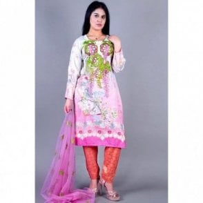 ML 12133 Lawn Suit with Net Dupatta