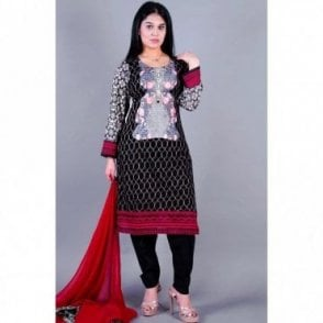 ML 12130 Lawn Suit with Chiffon Dupatta